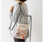 pvc clear drawstring bag pvc backpacks