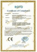 CE Certificate of SAW touch monitor
