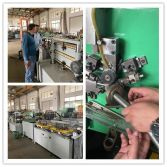 Our customers from India are in our workshop for conduit making machine and mechanical hose making machine acceptance and training.