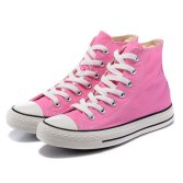 High/Low Cut Lace-up Pink Women Cheap Wholesale Casual Canvas Shoe
