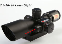 2.5-10x40 Airsoft Red Laser Sight Scope for hunting & shooting