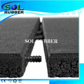 Free Connect pin Interlock Rubber Floor Tile