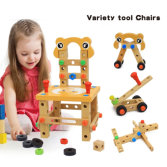 Inquiry of Wooden Screw Block Activity Working Chair Construction Children Wooden Toys