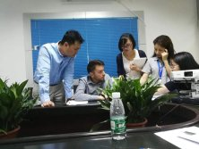 Germany customer visit our company