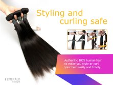 Hot Selling Emerald SG 3IN1 Straight Brazilian Remy Hair