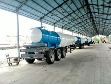 10 units V-type acid tank trailer exported to Zambia