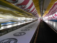 Factory Show - Hand screen printing lines