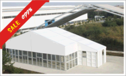 30x75M Party Tent with Glass Wall
