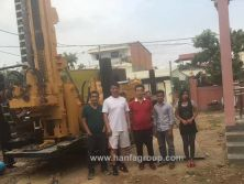 HFW400L water well drilling rig in Cambodia worksite