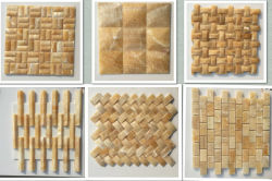 Honey onxy mosaic tiles