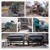 Magnetic drum separator used in processing river sand