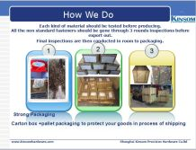 Logistics and packaging
