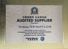 certificate of audited supplier by TUV