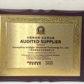 SGS Audited Supplier Certification