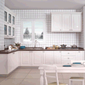 2017 YIJIA Hot Sale Factory White Kitchen Cabinet