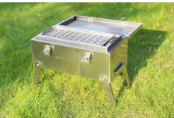 Outdoor Stainless Steel BBQ Grill for Camping Barbecue