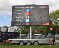 10mm mobile led truck display