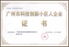 Science and Technology Innovation Small Giant Enterprise Certificate