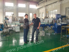 Canadian customer in our factory