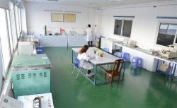 the lab for testing products