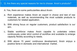 Reasons to Choose Anxin Products