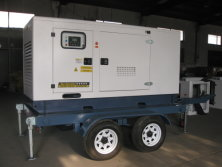 50KVA & 80KVA Cummins Trailer Generator Ship to Chile