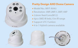New Arrival in Nov.! Pretty Design Dome AHD Camera with SMD IR Leds