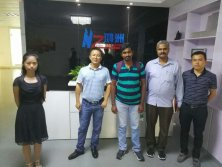 2017-06-27 Indian client Nagesh and Nagarajan visit Hongzhoui