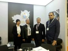 Photo with Customer in Metalloobrabotka 2017 Exhibition