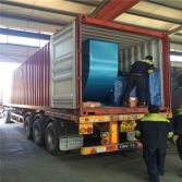 dust collector loading to container