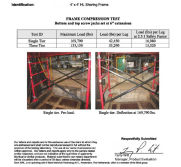 Test Report Of 4′*4′ HL Shoring Frame