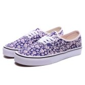 Hip Pop Style Purple Printed Sneakers White Lace Plimsolls Shoes