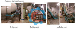 500kg/h Wood Pellet Line Clients Factory