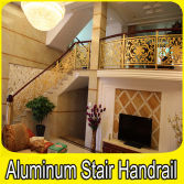Carving Aluminum Stair Handrail