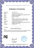 FCC certificate of LED light bars