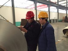 CEO Sam accompanied customers to visit our aluminum foil raw materials