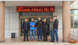 South African Customers come to visit factory