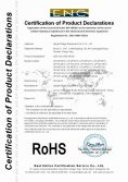 RoHS Certificate of Led Moving Head