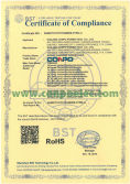 RoHS Certificate Compliance for Solar Charger Controller