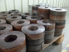 Steel cores for toroidal transformers