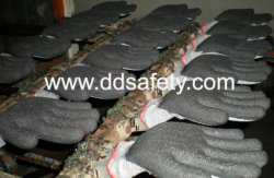 latex coated gloves-DDSAFETY