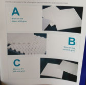 Stick way and back sheet material for alumina ceramics mosaic