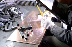 Welding the door handle