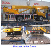 T-king truck crane shipping to Thailand