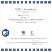 MEDFUTURE Obtained NSF Certificate