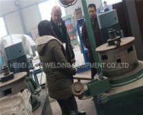 Sudan customer visited our factory to see the pulley wire drawing machine