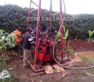 Construction site of HGY-200C drilling rig in Africa