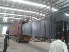continuous pyrolsyis plant loading