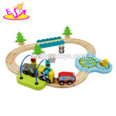 New design mini wooden toy train tracks