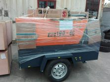 HG190-8C Trailer Diesel Screw Air Compressor and S82 Rock Drill delivery to Tanzania